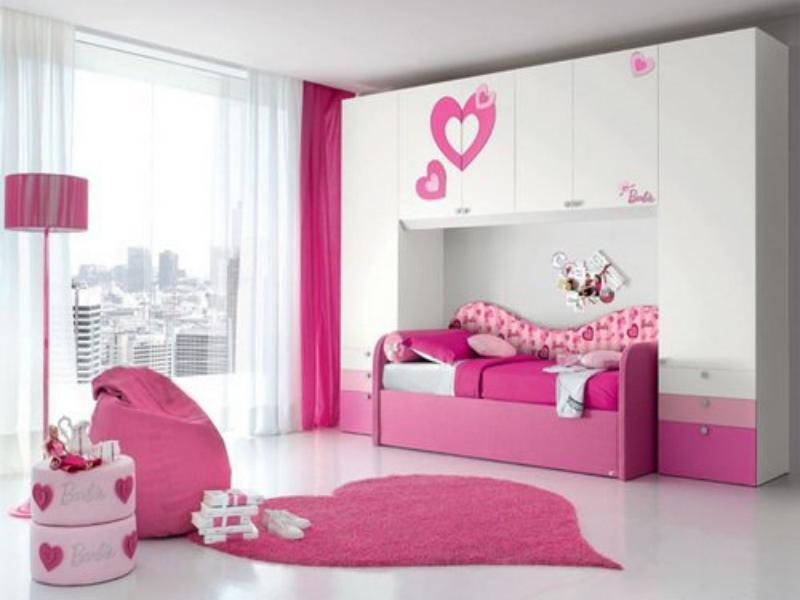 Genial Fabulous Design Ideas Of Little Girls Bedroom With Pink Color Built In Bed  Frames