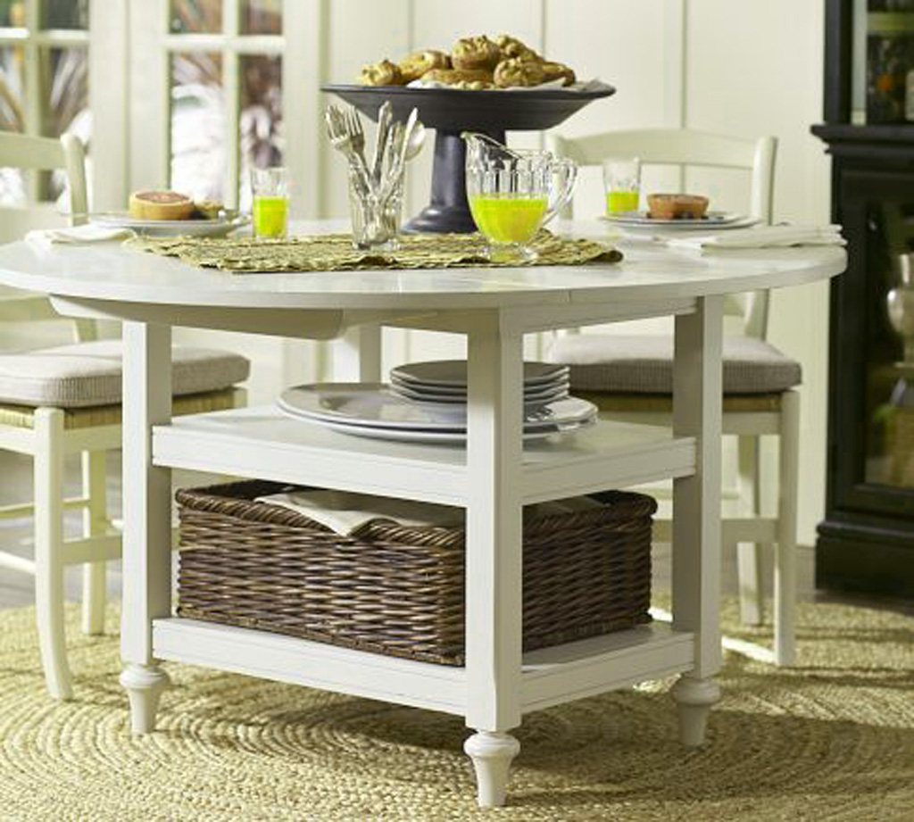 Add Wicker Basket In Small Dining Tables For Old Fashioned Room With White  Chairs