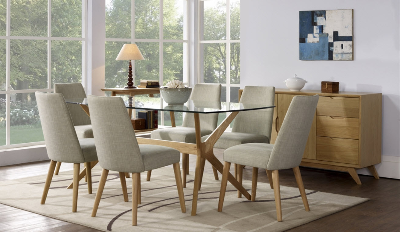 Ideas to make table base for glass top dining table for Dining room table chairs