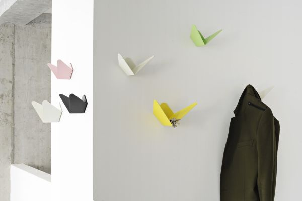 Adoraable Butterfly Design Decor for wall Mount Coat Rack with Chic Color Accent