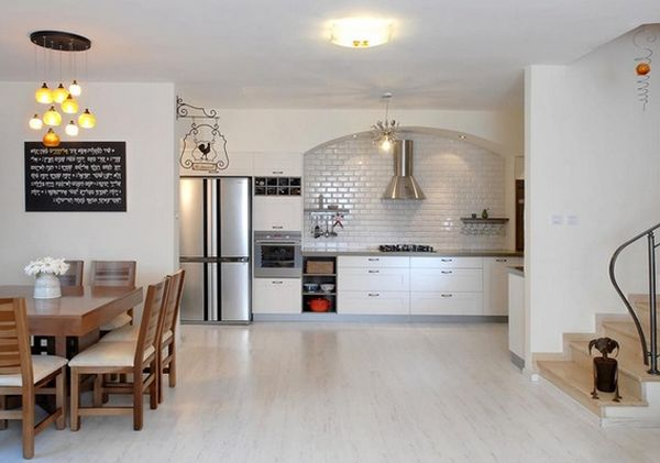 Adorable Kitchen Flooring Options with Sleeky Surface and Pure Ambience with Chalk Color
