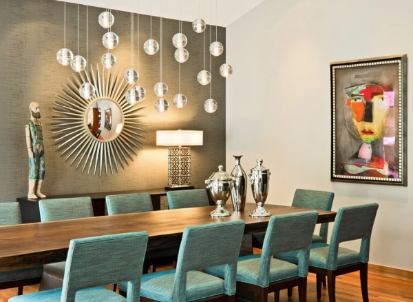 Agreeable Dining Room Lighting Ideas Above Wooden Table and Chairs
