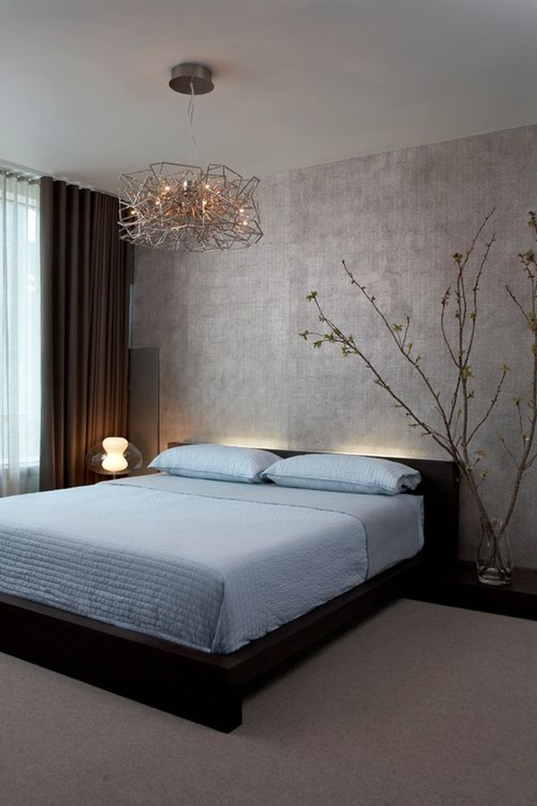 Alluring Accessory Decor with Best Hanging Lamp above Chic Masterbed