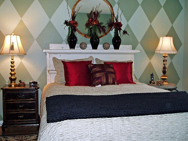 Alluring Bedroom Using King Size Bed Headboard Decor Between Lamps