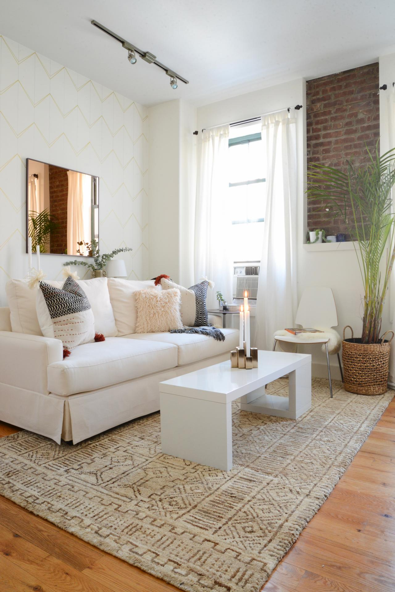 Amazing Design Picture for White Living Room Furniture with Nice Accessry and Wooden Element
