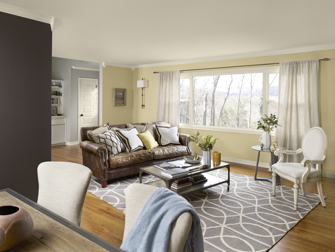 Tips for living room color schemes ideas midcityeast - Grey paint living room ...