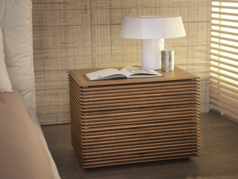 Appealing Bed Side Tables Lamps on Wooden Dresser In White