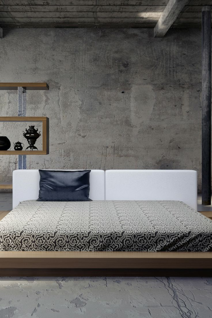 Appealing Big Furniture for Grey Bedroom Ideas with Low Masterbed on Chic Floor