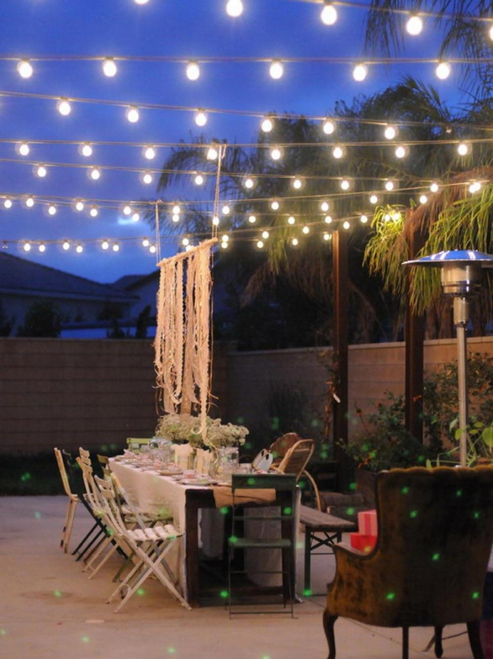 28 Awesome Outdoor String Lights Set Up - pixelmari.com