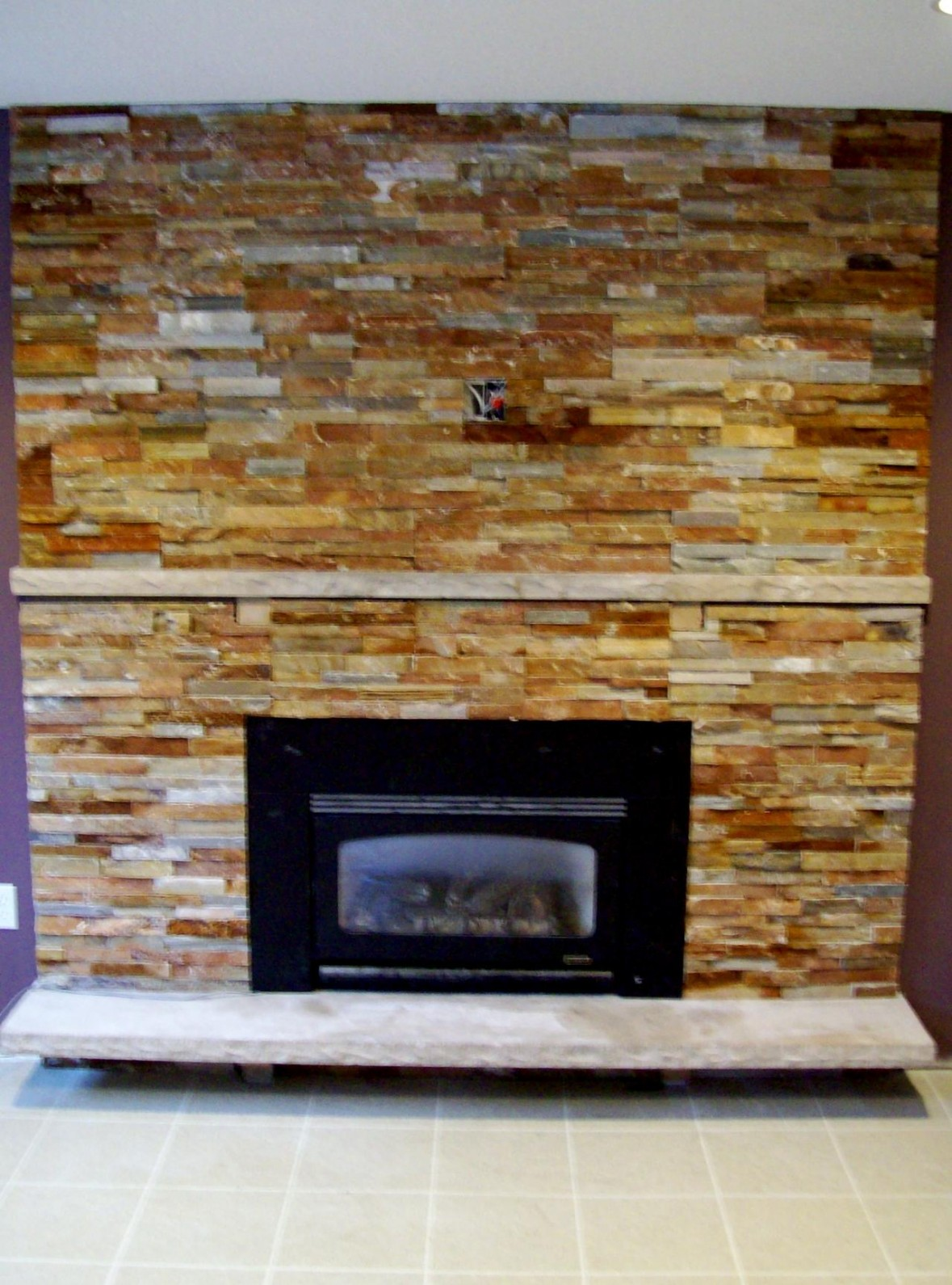 Various Ideas Of Stacked Stone Fireplace Based On Your Available Budget Midcityeast
