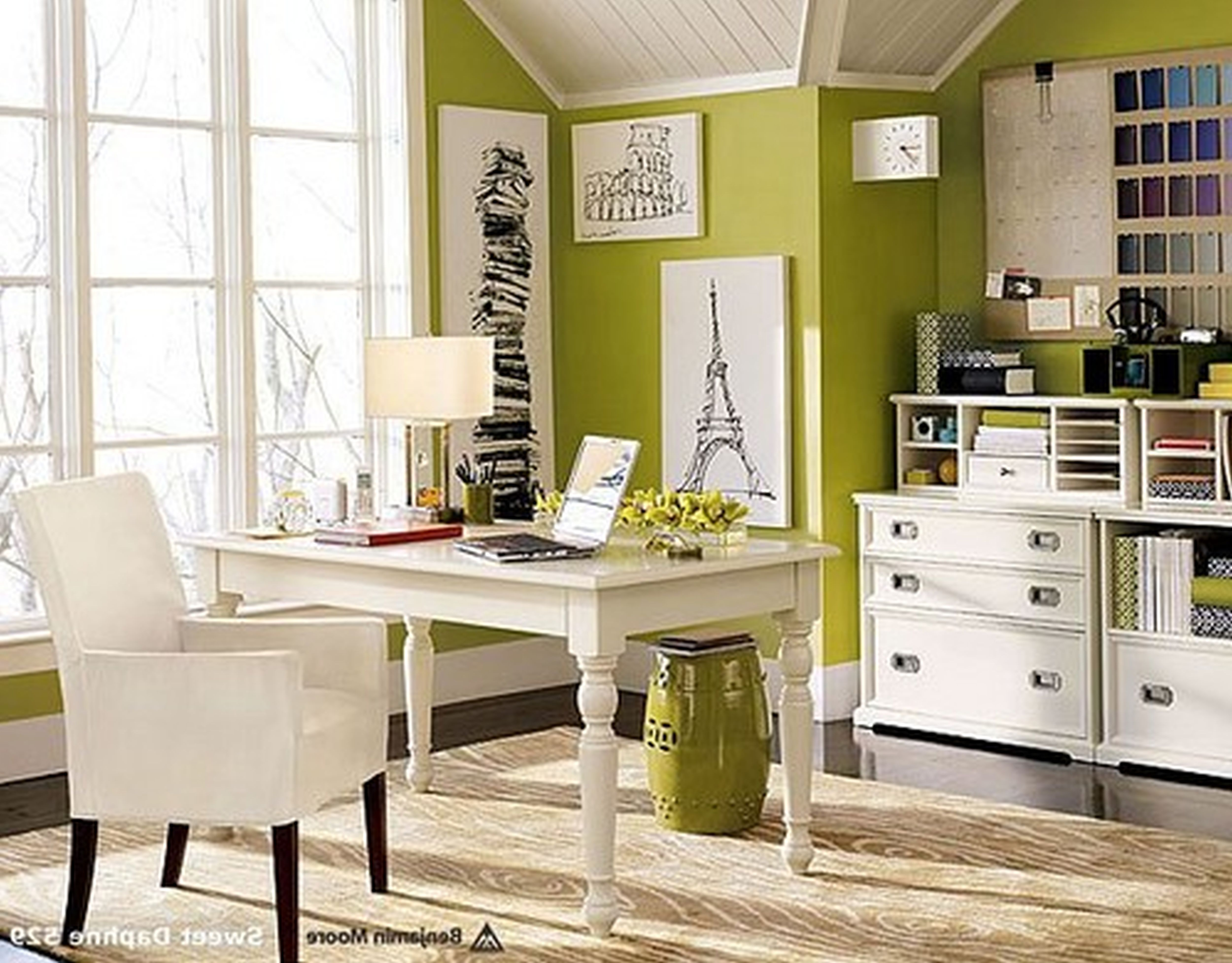 Appealing White Table And Chair Near Clic Cabinets For Old Fashioned Office Decor Ideas