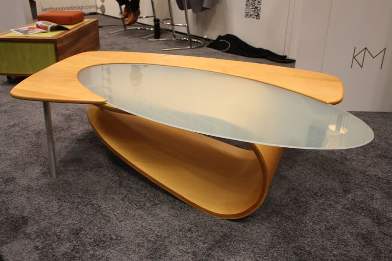 Awesome Design Picture for Oval Glass Coffee Table with Wooden Material and Metal Accent
