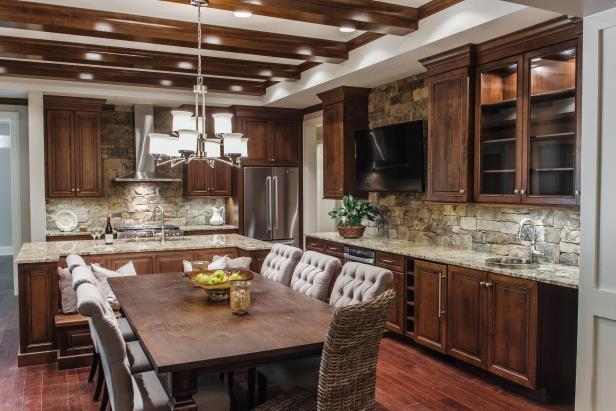 Creating a nice kitchen style by applying stacked stone backsplash midcityeast - Awesome kitchen from stone more cheerful ...