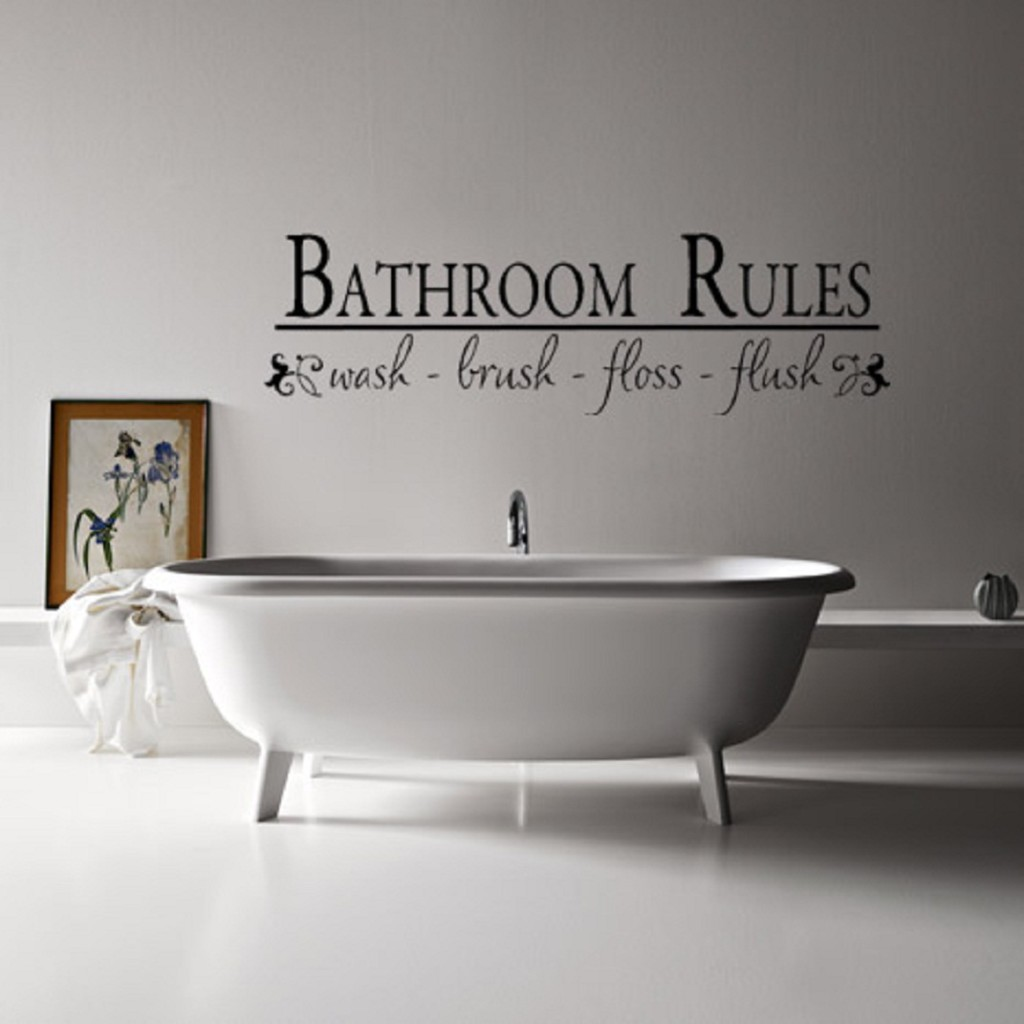Wall decorating ideas and tips for the stunning yet unique wall awesome wall decorating ideas in wide bathroom with white bathtub and glossy faucet on white flooring amipublicfo Images