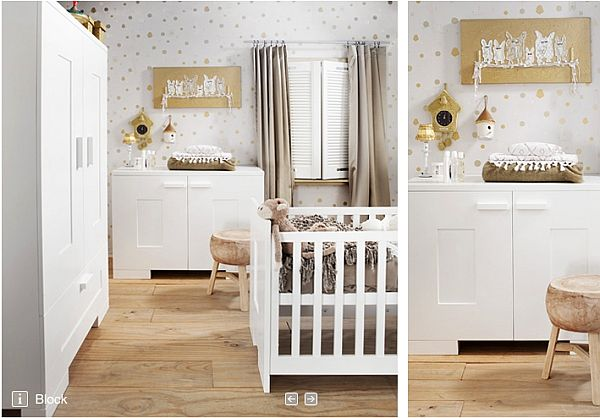 Awesome White Color Accent in Boy Nursery Themes with Chalk Wall Paint Picture