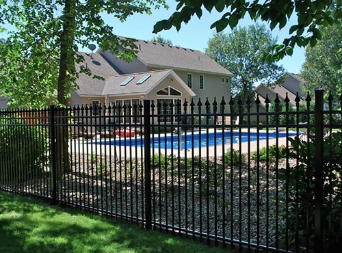 Beauteous Design of Backyard Fence Ideas From Iron Material