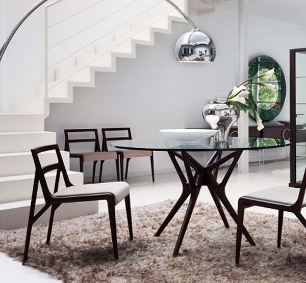 Best Chairs And Arch Floor Lamp Also Metal Dining Table