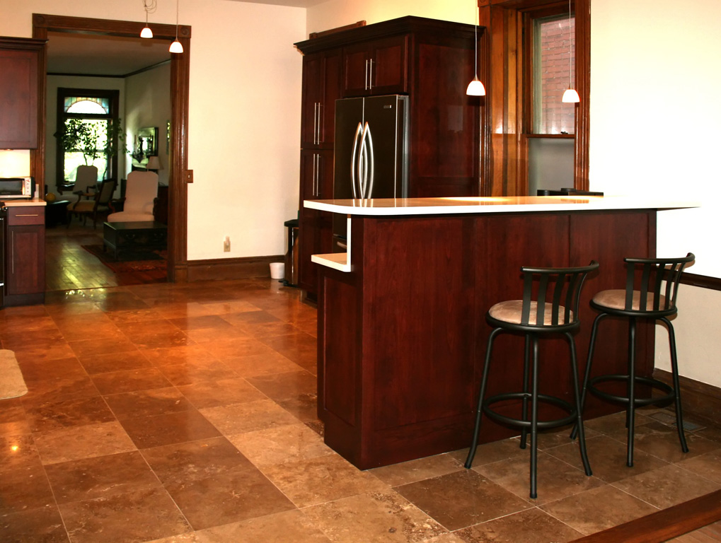 The best nonslip tile types for kitchen floor tile for Black floor tiles for kitchen