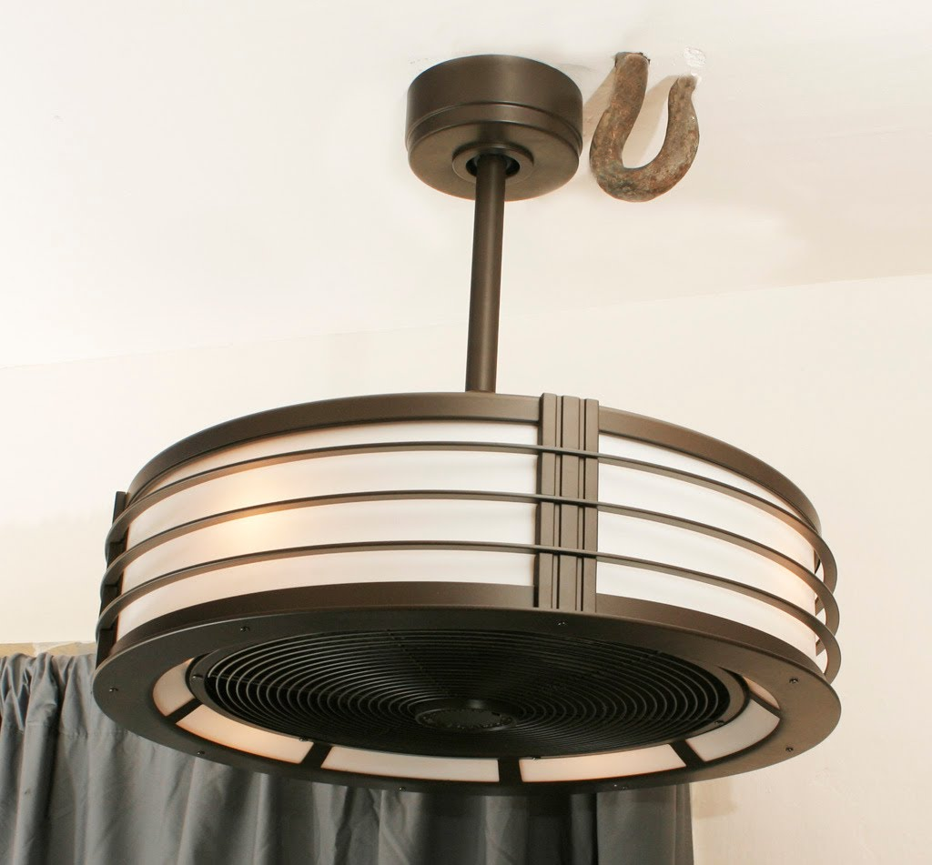 Bladeless Ceiling Fan With Light - WANTED Imagery