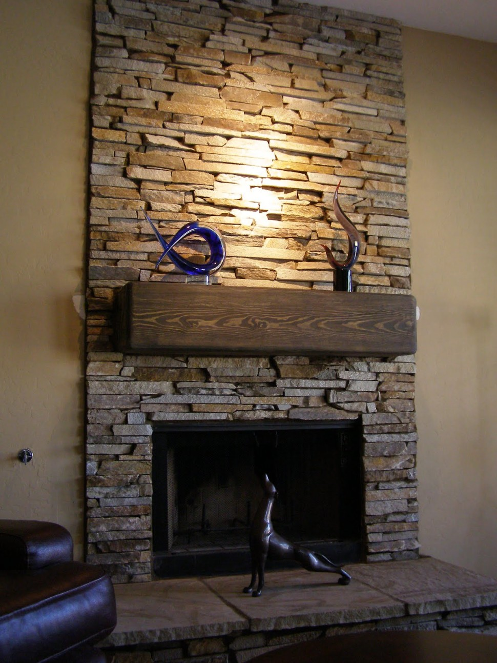 Various ideas of stacked stone fireplace based on your available budget midcityeast - Images of stone fireplaces ...