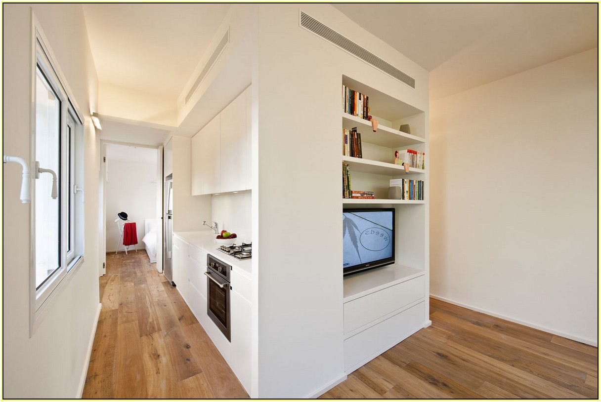 Genial Choose Brilliant Furniture For Small Spaces Apartment With White  Bookshelves And Long Kitchen Counter