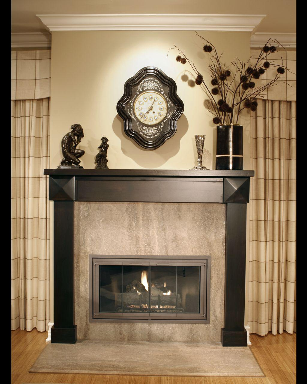 choose fabulous fireplace mantel decor above closed fireplace in comfy