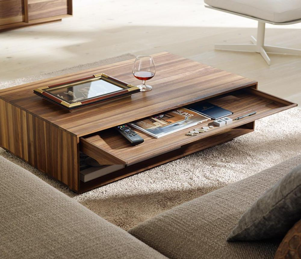 Choose Fantastic Wooden Living Room Table with Wide Pulled Shelf in Cozy Sitting Room