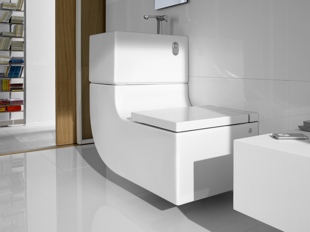Merveilleux Choose Futuristic Vanity And Sink Design From Brilliant Bathroom Space Saver  With White Tile Flooring