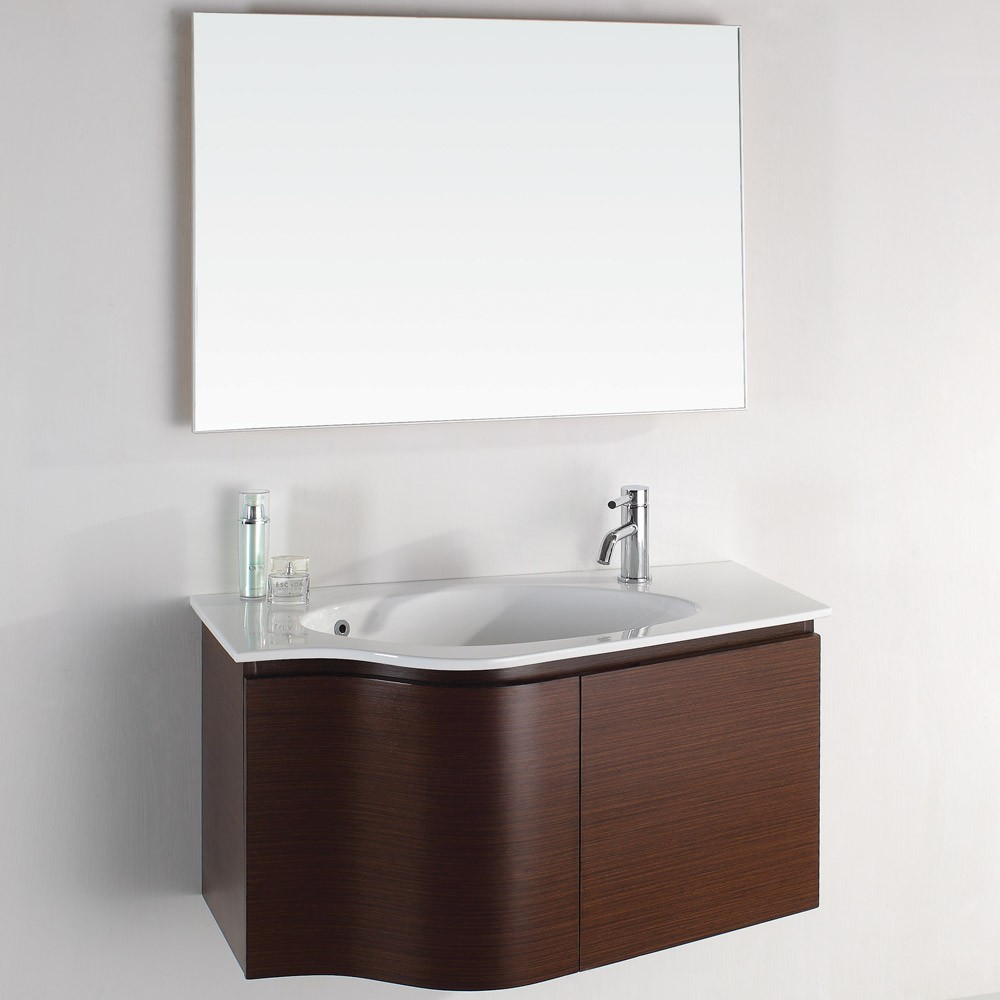 Tips for selecting the right small bathroom sinks for a for Bathroom wall vanity cabinets