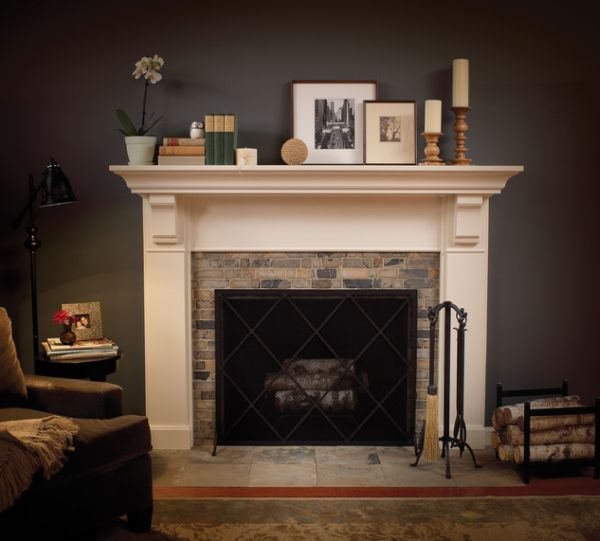 Genial Classy Furniture Design Picture Decor With Large Dark Wall Paint ·  Contemporary Design For Fireplace Tile Ideas ...