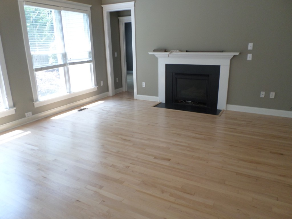 Classy Wooden Laminate Floor also Minimalist Fireplace For Large Room