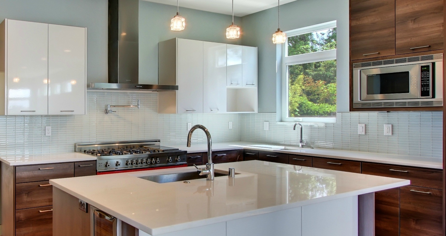 Subway Tile Kitchen Backsplash Great Glass Amazing Milky