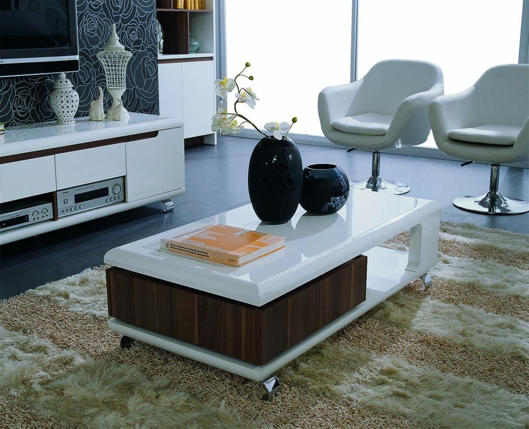 Combine Wood And White Material For Contemporary Coffee Tables Used Inside  White Chairs And Long CabinetThe Most Inspired Unique Contemporary Coffee  Tables ...