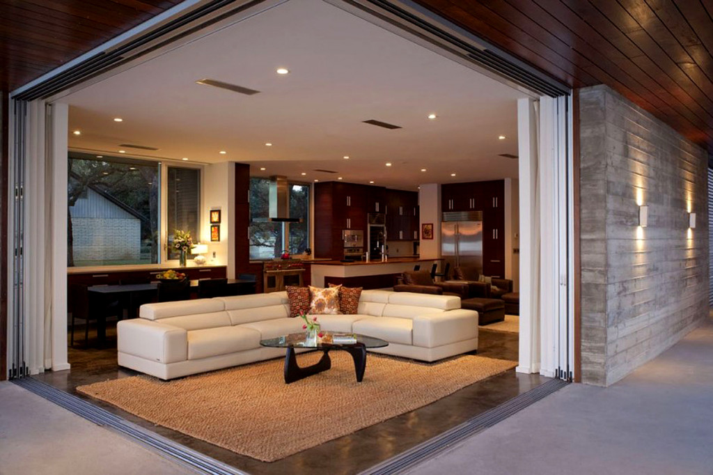 Complete Home Design Ideas for Sitting Room with white Sectional Sofa and Stylish Coffee Table