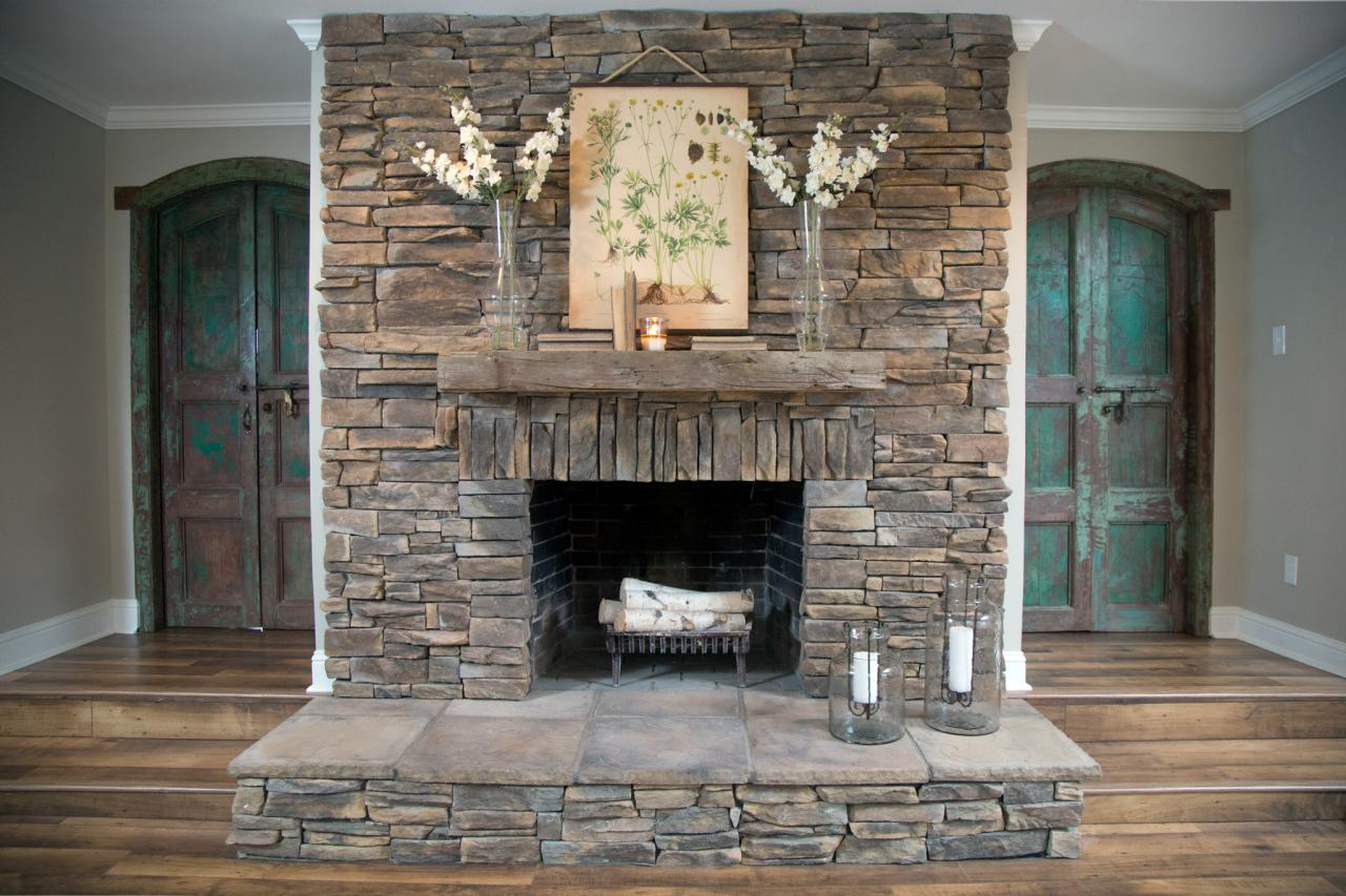 Various Ideas Of Stacked Stone Fireplace Based On Your