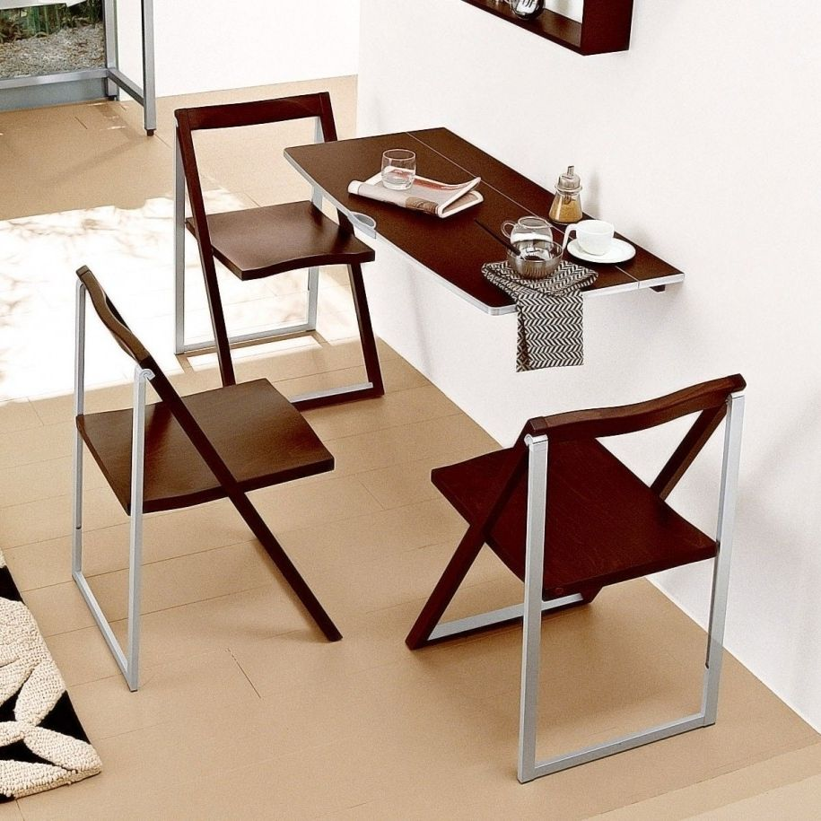 Various ideas of folding dining table with a bunch of for Eating tables for small spaces