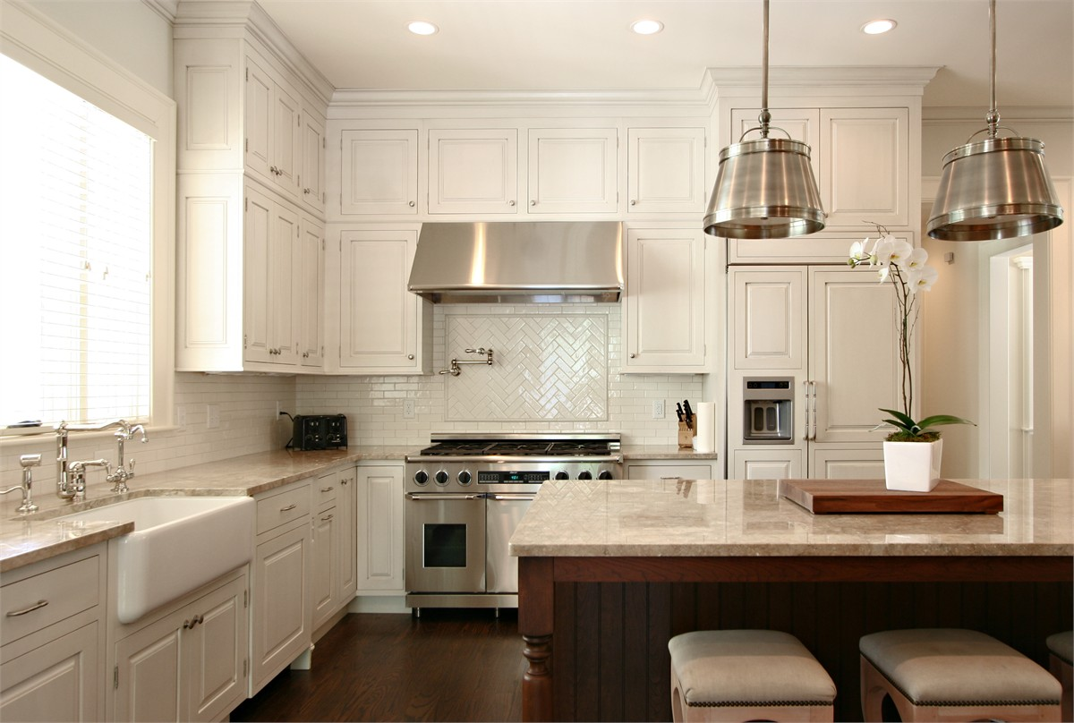 Kitchen backsplash tile designs. complete traditional kitchen with ...
