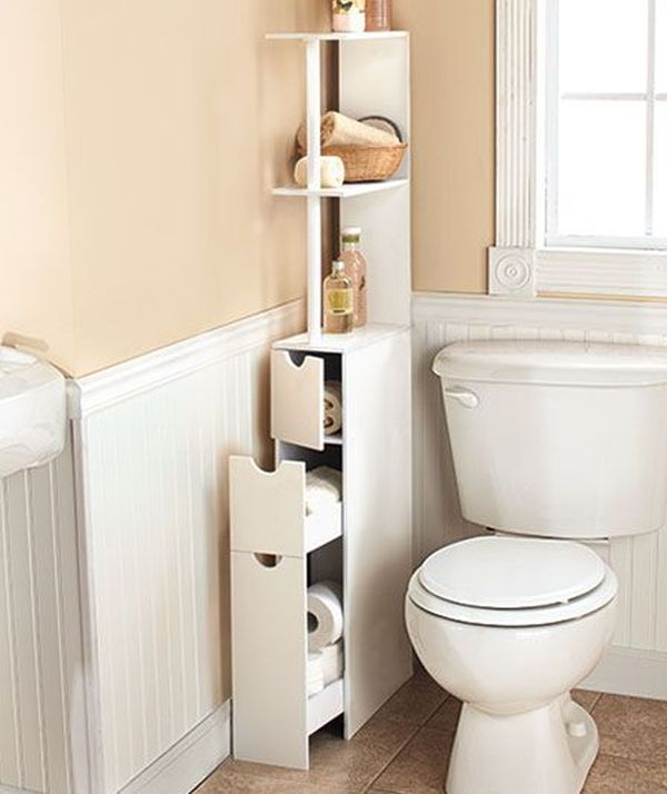 Over The Toilet Linen Storage