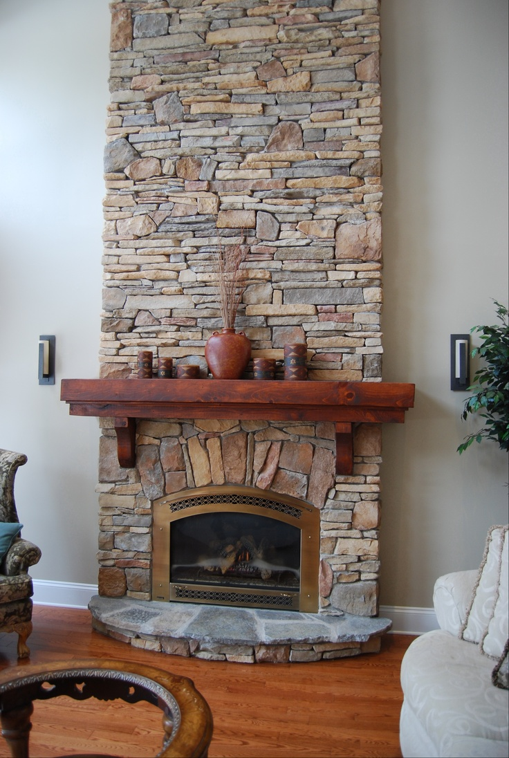 Cute Small Fireplace Decor Ideas with Nice Wooden Accent and Best Stone Wall