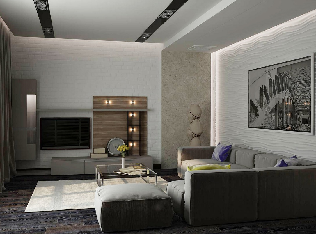 Dazzling Living Room Lighting Ideas also Gray Sectional Sofa plus Square Glass Coffee Table