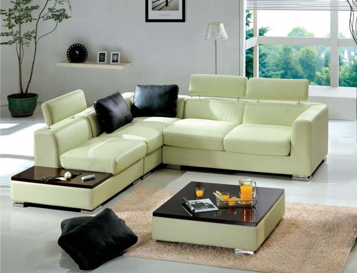 Enchanting Sectional Sofa Using Dark Pillow for Living Space Decor