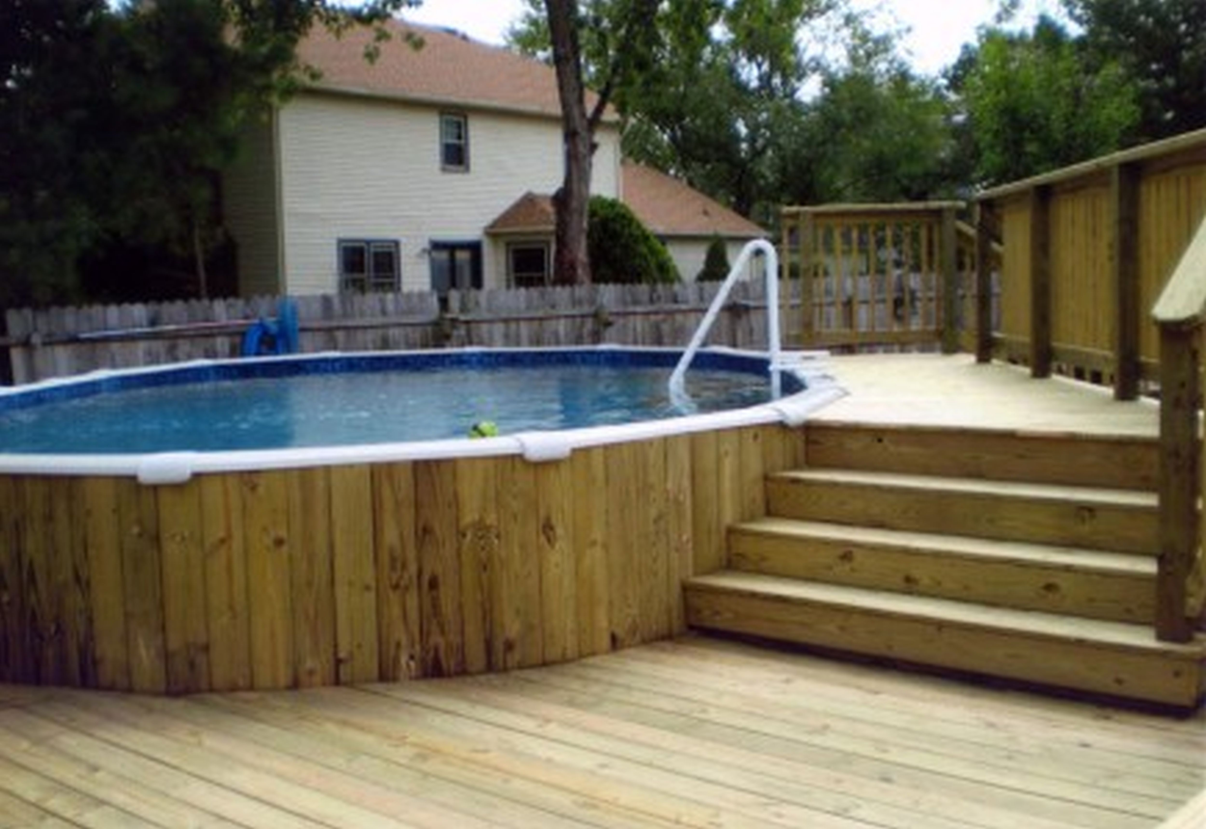 Faboulus Decorating for Pool Deck Ideas with Best Wooden Material and Nice Ramp