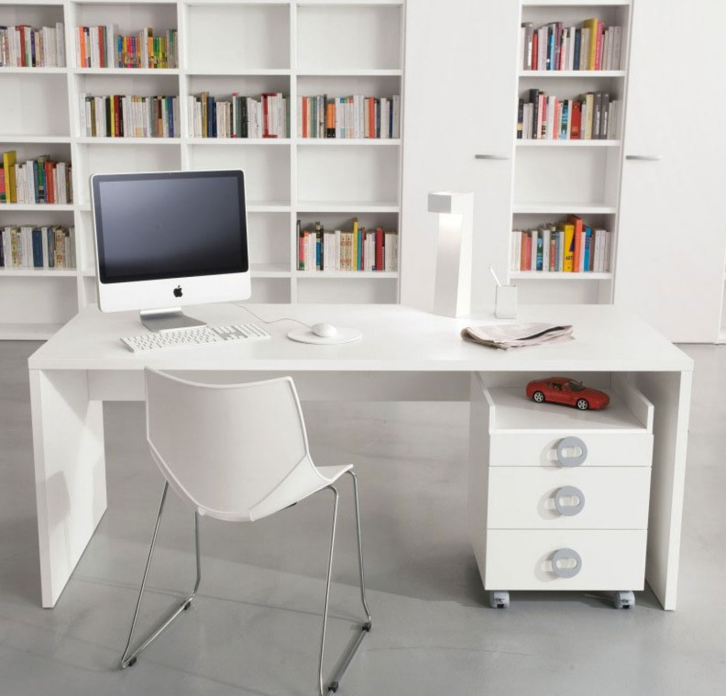 Nice ... White Desk With Drawers Buying Guides Midcityeast ...