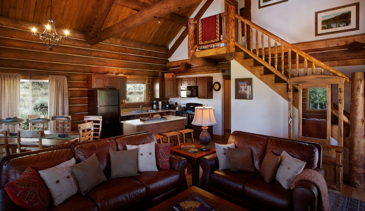 Fascinating Living Space Decor Using Brown Leather Sofa With Pillows