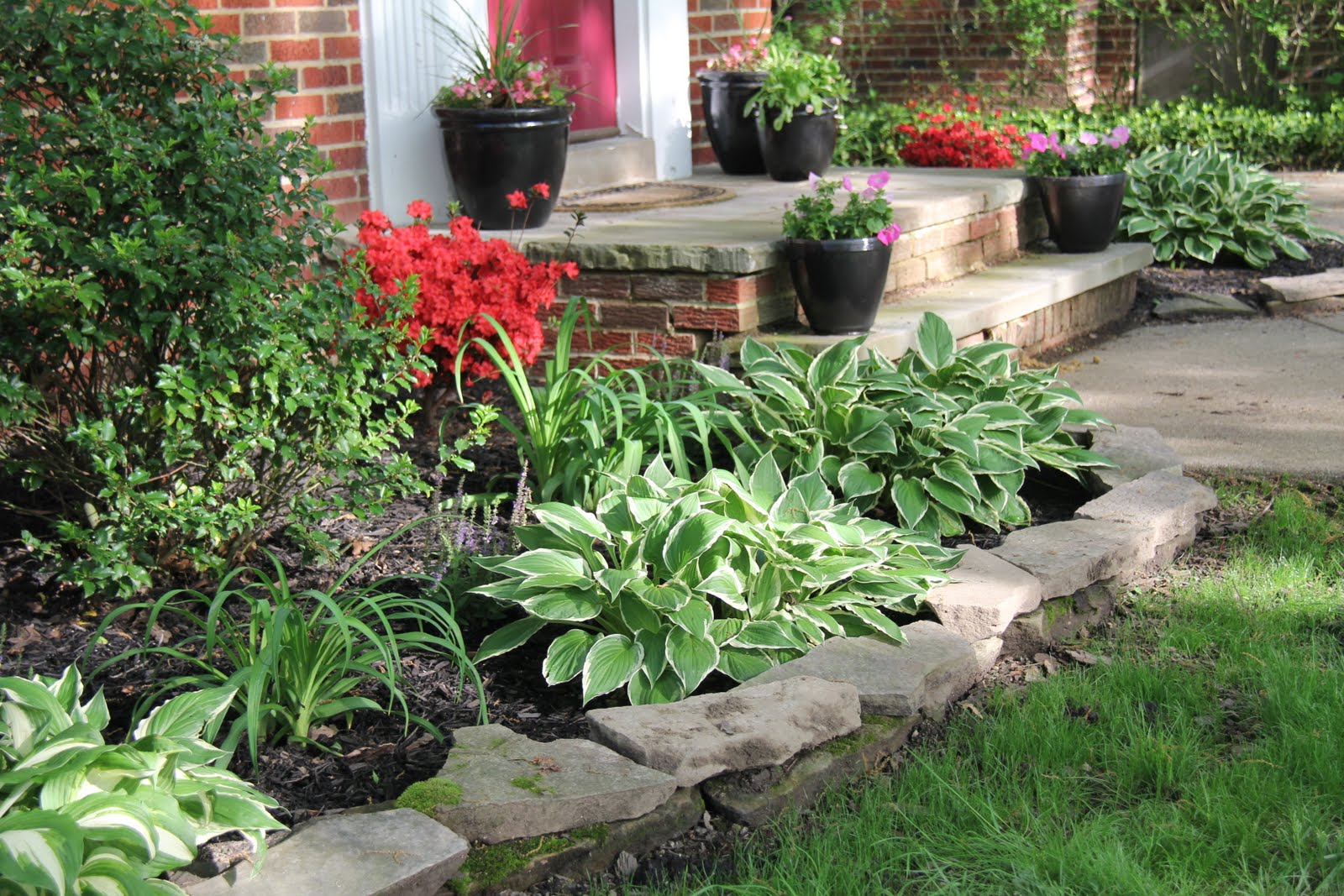 Flower bed ideas the ultimate touch of the nature in your for Plants for front of house ideas