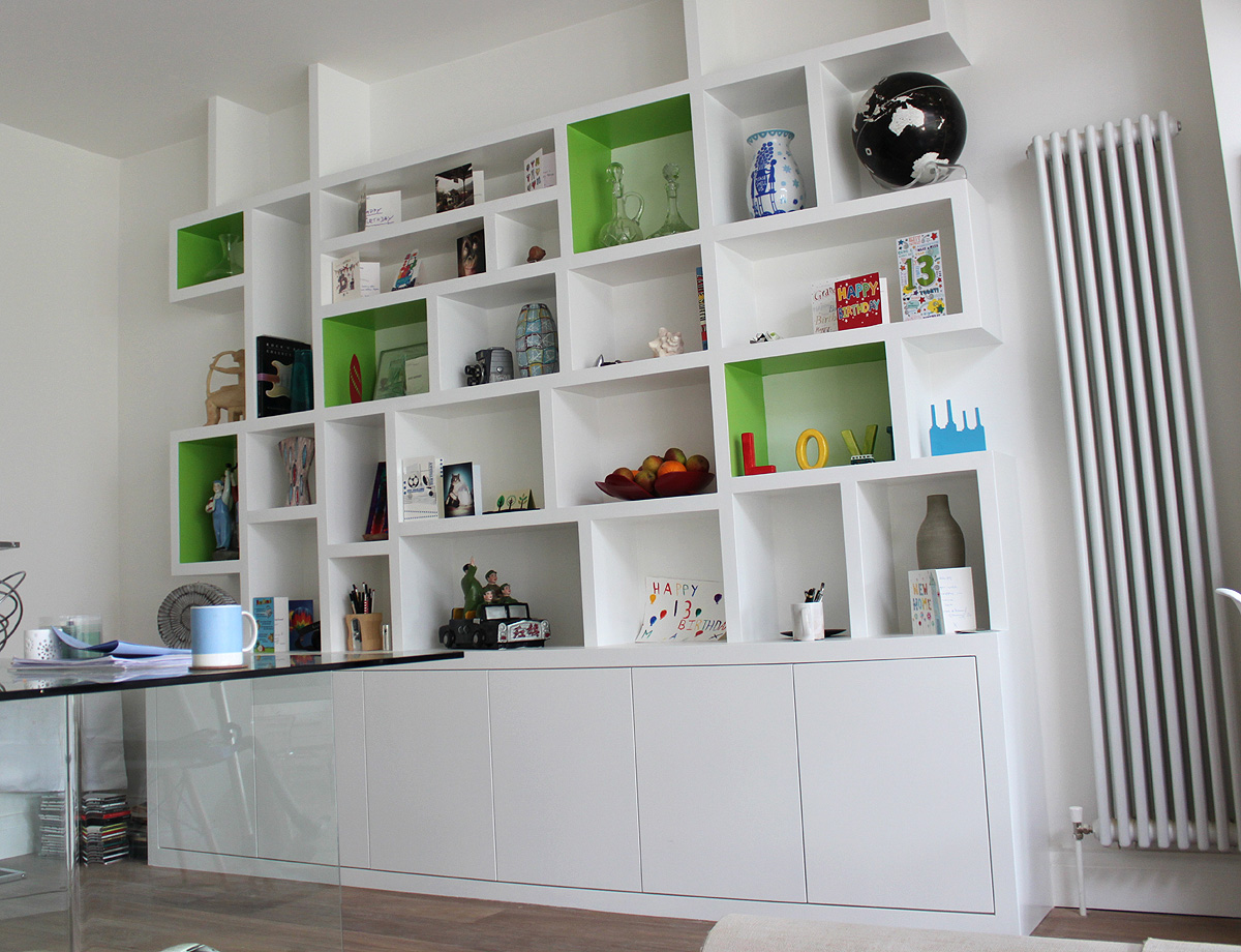 How to add decorative wall shelves with elegant style midcityeast - Contemporary built in bookshelves ...