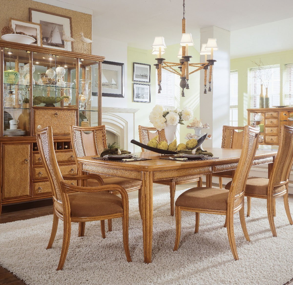 oak chairs and dining table centerpieces for enchanting dining