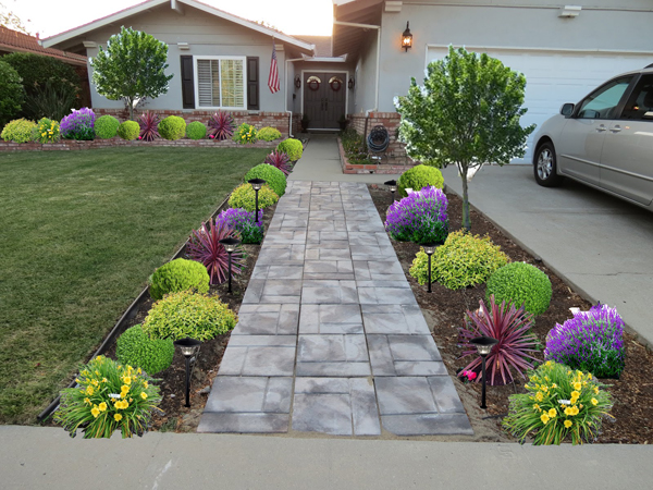 Grand Concrete also Small Plants For Front Yard Landscape Ideas