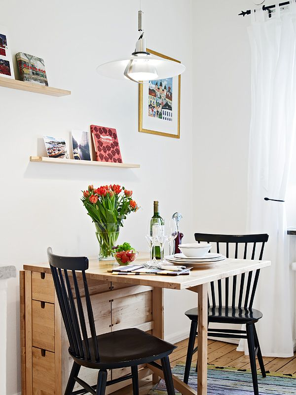 Grand Kitchen Tables For Small Spaces Plus Black Wooden Chairs
