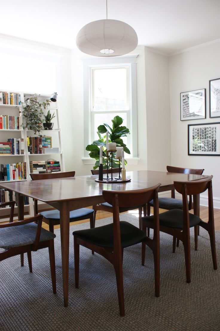 Great Wooden Furniture Design with Simple Chair near Big Table